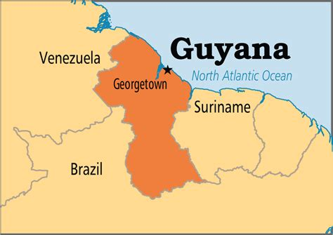 where is guyana on the world map guyana operation world