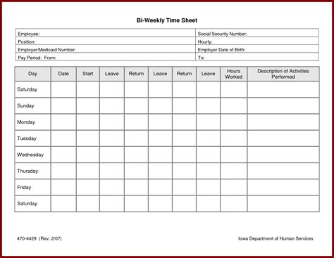 hourly timesheet template weekly timesheet template excel free time