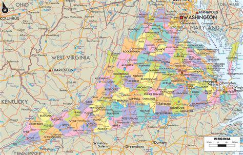 va usa map map of virginia usa
