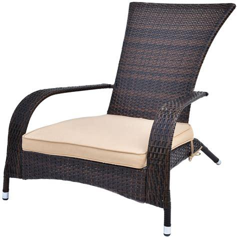 outdoor wicker seat cushions outdoor wicker adirondack chair w seat cushion