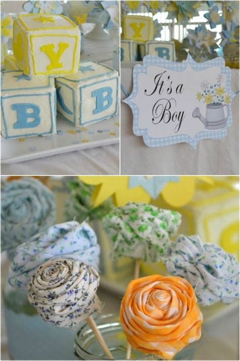 Boy Baby Shower Ideas by Country Garden Themed Boys Baby Shower Spaceships And