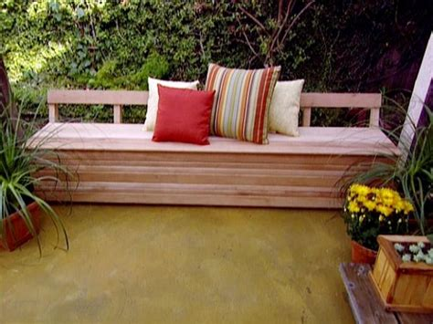 build outdoor storage bench patio storage bench video hgtv