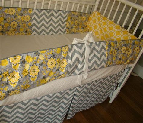 Yellow And Gray Chevron Crib Bedding Loving The Yellow And Grey Colour Scheme For New Nursery For The Pinterest The