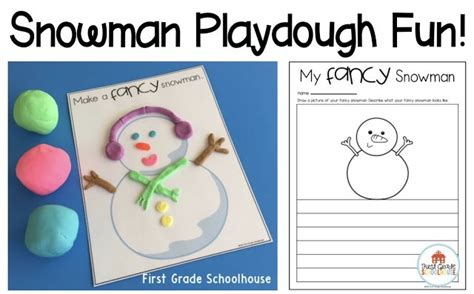 printable snowman playdough mats snowman playdough mats with writing printables free