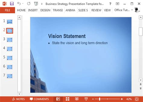 game design vision statement free business strategy template for powerpoint