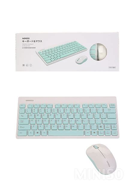 Mouse Slim Miniso miniso wireless mouse and keyboard set famstore