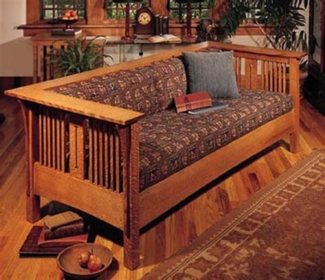 craftsman furniture plans arts and crafts mission sofa and chair woodworking plan