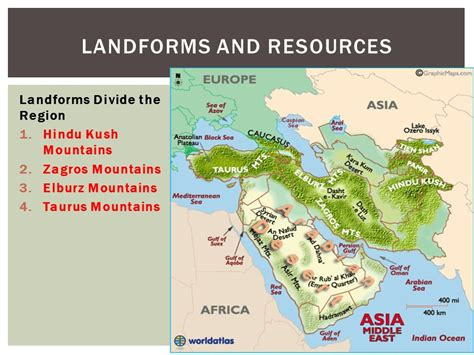 middle east map elburz mountains middle east ppt