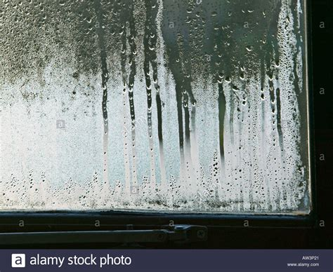 moisture on windows in house condensation on double glazed window in house wales uk stock photo royalty free image
