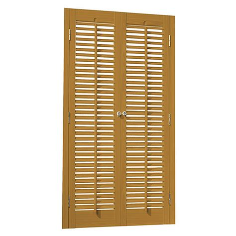 Wood Shutters Interior Lowes by Shop Allen Roth 23 In To 25 In W X 32 In L Colonial