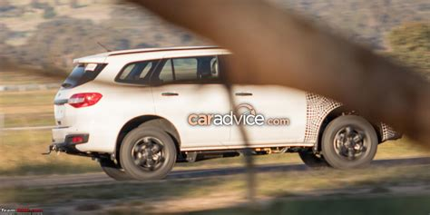 ford endeavour 2018 spied 2018 ford endeavour everest facelift team bhp