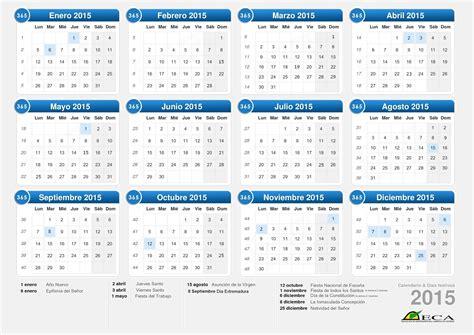 Calendario Oficial 2015 Calendario Laboral Oficial 2015