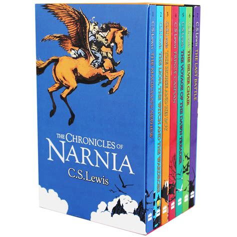 narnia picture books chronicles of narnia 7 book set by c s lewis fiction