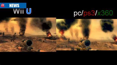 wii vs xbox 1 graphics black ops 2 wii u graphics comparison