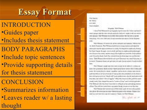 Structured Essay by Essay Structure