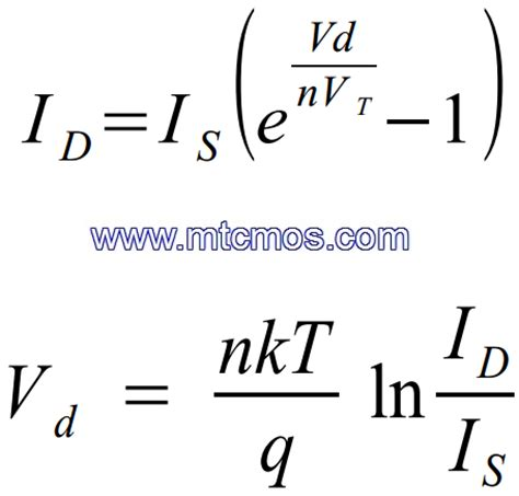 p n junction diode current equation derivation mtcmos 187 diode
