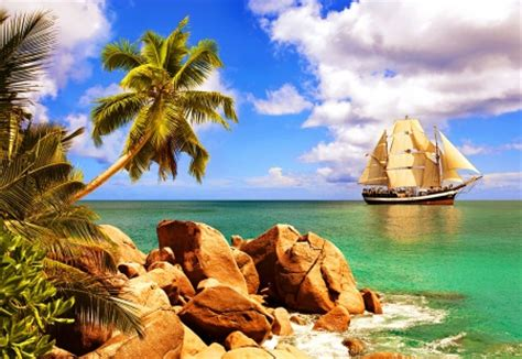 tropical sailing beaches nature background wallpapers
