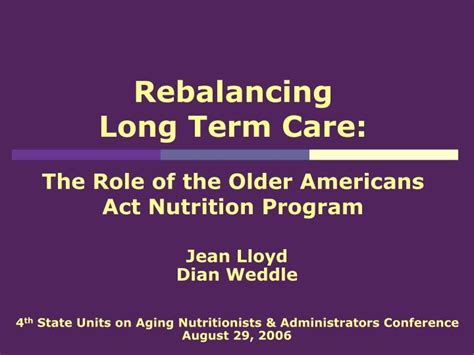 2014 long term care diet manual ppt rebalancing long term care the role of the older