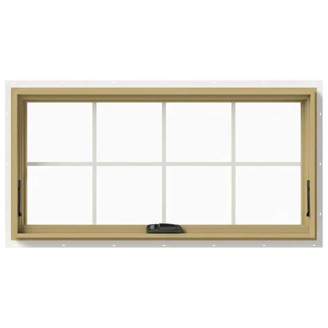 jeld wen awning windows jeld wen 48 in x 24 in w 2500 awning aluminum clad wood