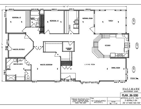 mobile homes floor plans wide