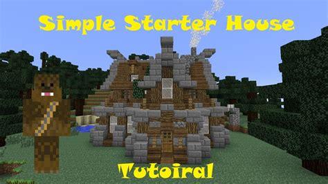 minecraft medium house minecraft simple medium sized rustic starter survival house tutorial 15x17 youtube