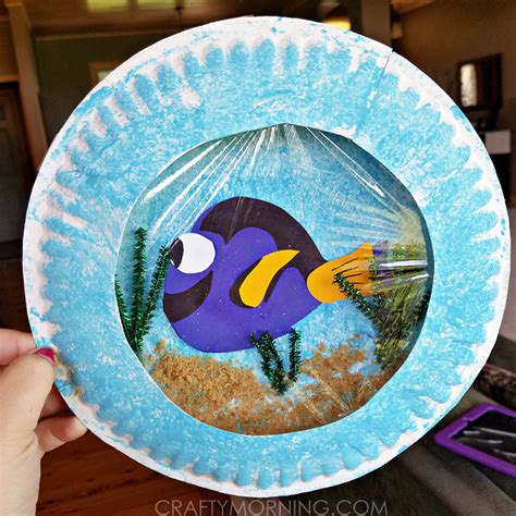 Craft Using Paper Plates - finding dory paper plate craft crafty morning