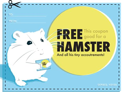 printable hamster food coupons image gallery silly coupons