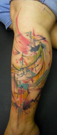 watercolor tattoos in houston abstract tattoos on watercolor