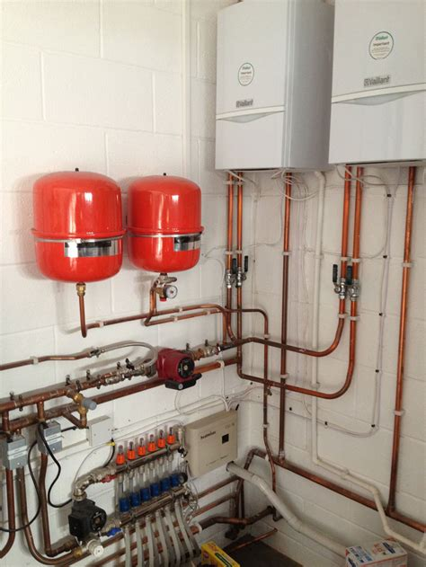 two boilers banked together gps plumbing and heating