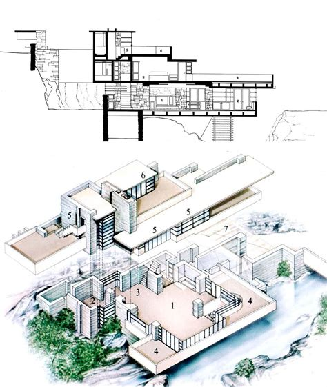falling water floor plans architecture 219 gt yip gt flashcards gt lecture 12 studyblue