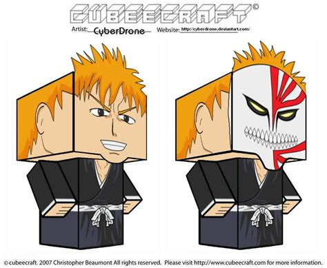 Ichigo Papercraft - cubeecraft ichigo by cyberdrone on deviantart