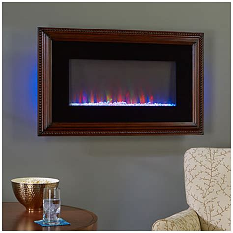 Fireplace Wood Frame by 36 Quot Wall Mount Wood Frame Electric Fireplace Big Lots