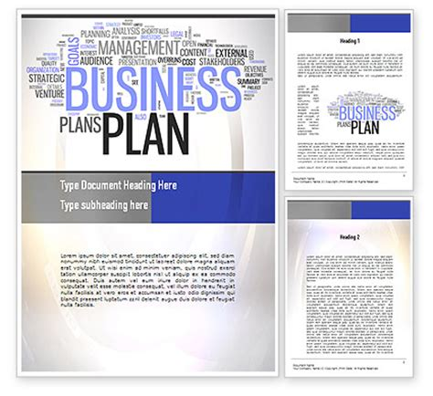 Business Plan Word Cloud Word Template 10888 Poweredtemplate Com Cloud Business Template
