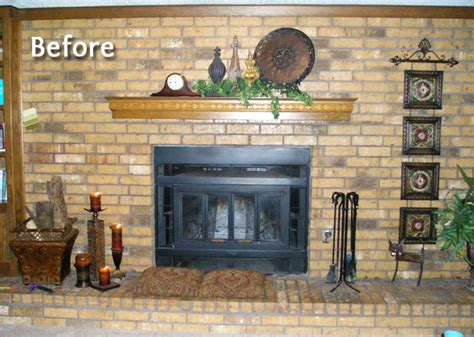 Painting Brick Fireplace Wall by Painted Brick Fireplace
