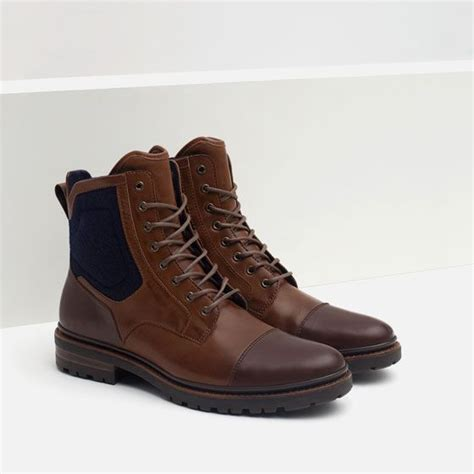 combined boots with grip sole shoes zara and boots