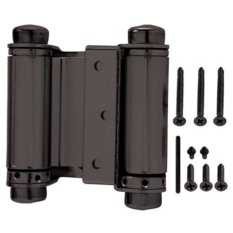 gate hinges that swing both ways everbilt 3 in x 3 in oil rubbed bronze double action