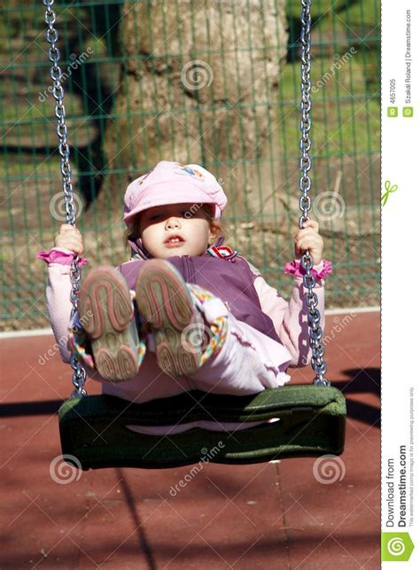 young swing young girl on swing royalty free stock photo image 4657005