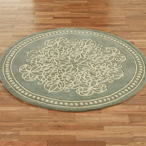 Circular Area Rugs Florentia Lace Wool Area Rugs