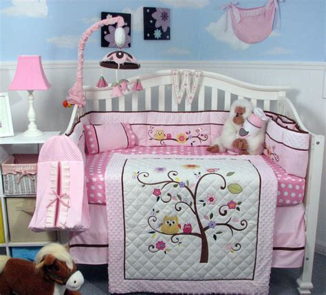 Soho Cherry Blossom Baby Crib Nursery Bedding Set 13 Pcs Soho Crib Bedding Set
