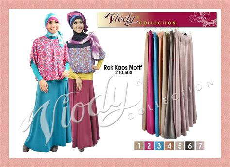 Gamis Biru Dongker Merah Muda baju gamis modern rok viody collection