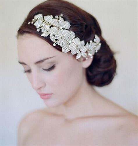 hot wedding hair accessories three piece for designer bride wedding hair jewelry head piece ivory pearls combs