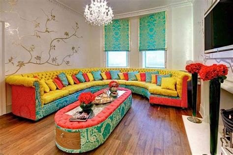 colourful living room colorful interior design by