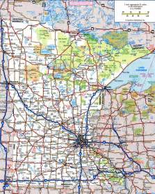 map with highways minnesota road map my