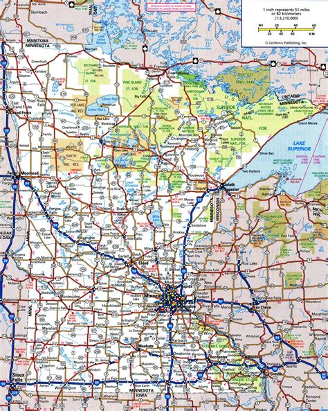 State Of Mn Records Minnesota Road Map My