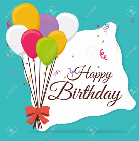 card invitation sles happy birthday design vector