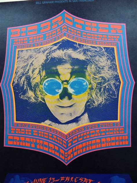 rare psychedelic janis joplin arthur brown dance concert poster san francisco  catawiki