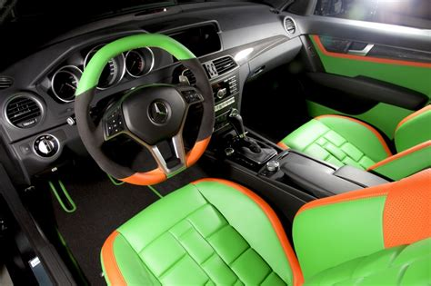 green mercedes a class mercedes c class 204 c63 amg orange green leather seats