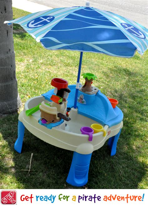 Step 2 Water Table With Umbrella by Summer With Step2 High Seas Adventure Sand Water