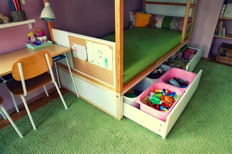 raise malm bed ikea kura bed hack build a sturdy platform with drawers