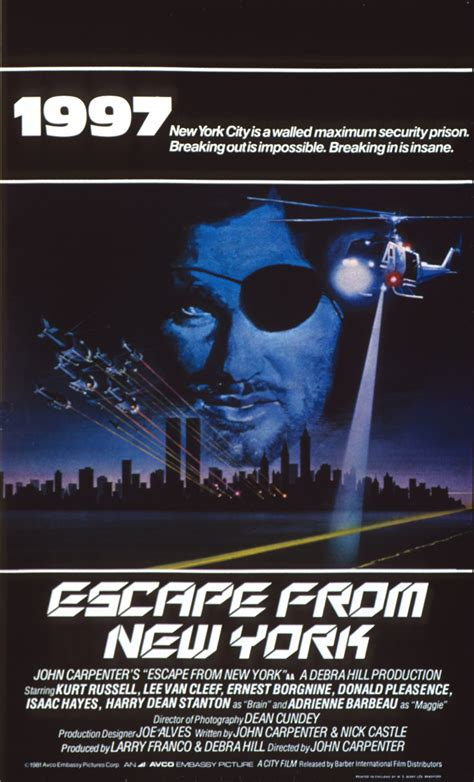 Poster Escape From New York 30x40cm 10 great prison bfi